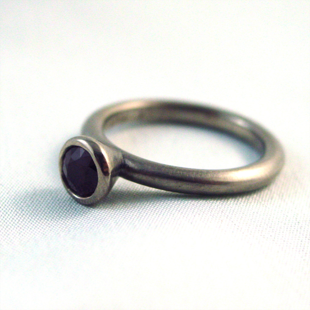 Ruby Solitaire Engagement Band
