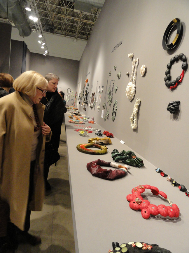 Charon Kransen, New York Gallery, had the largest experimental art jewellery collection at SOFA. Incredible!