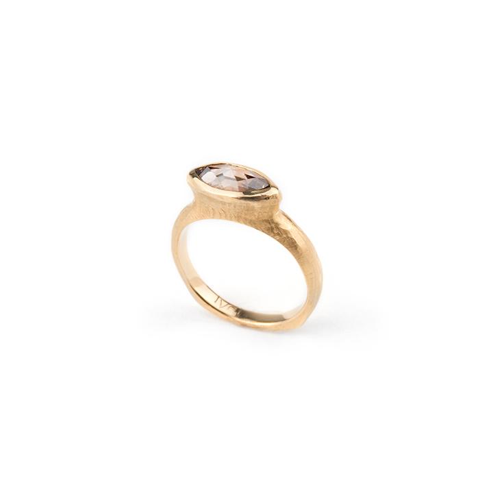 Champagne Diamond Meso Ring